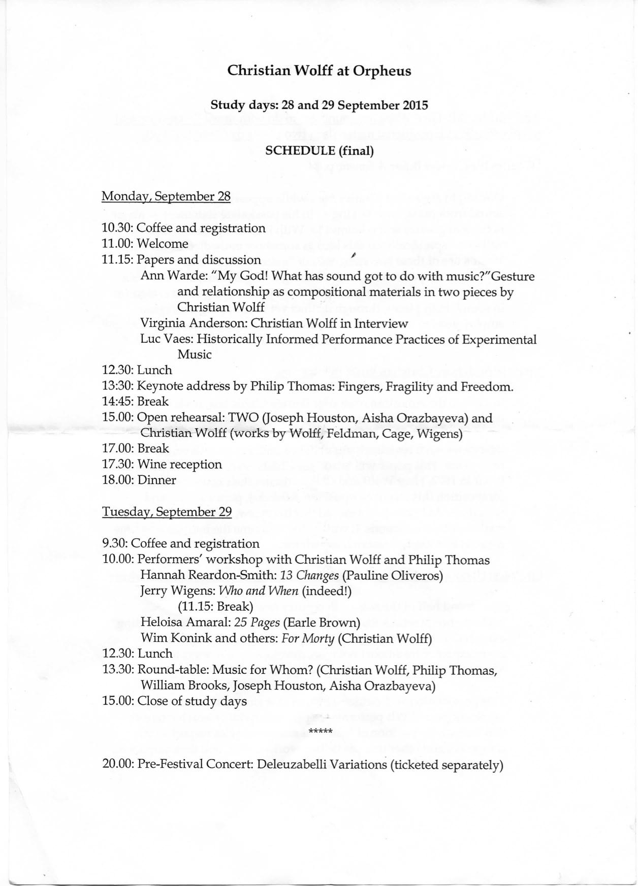 orpheus programme